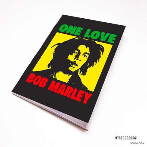 "Блокнот белый ""Боб Марли"" А7 (061)"