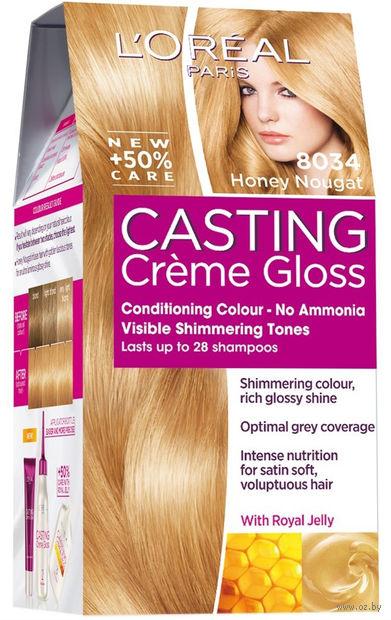 """Краска-уход для волос """"Casting Creme Gloss"""" (тон: 8034, медовая нуга)"""