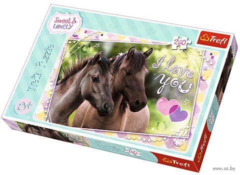 "Пазл ""Любим лошадей"" (260 элементов) — фото, картинка"