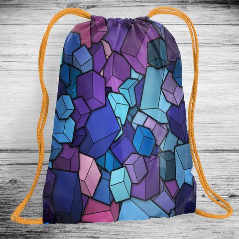"""Рюкзак-мешок """"Кубики"""" (арт. 10) — фото, картинка"""