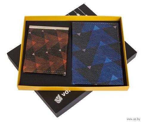 """Подарочный набор """"Холод"""" (обложка на паспорт и зажим для денег) — фото, картинка"""