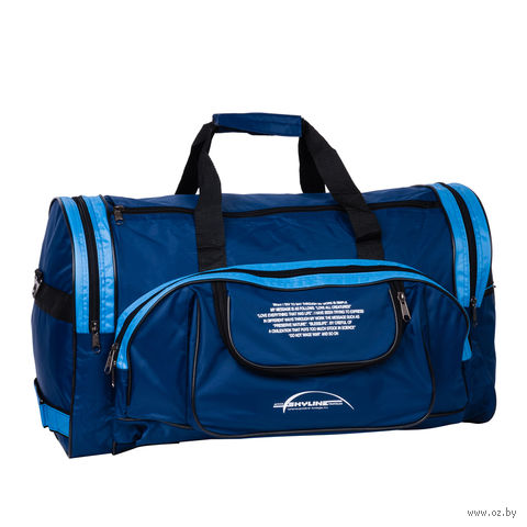 Сумка спортивная П01 (55 л; сине-голубая) — фото, картинка