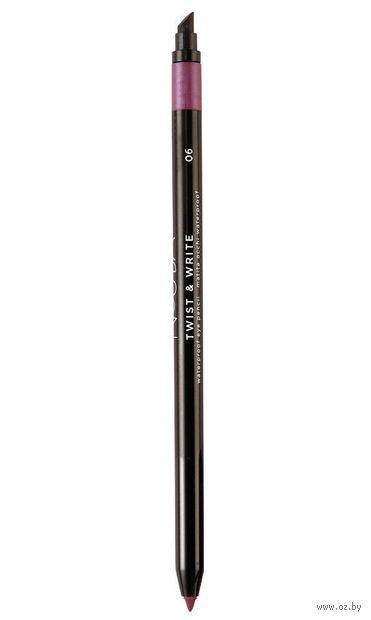 """Карандаш для глаз """"Twist and Write Waterproof Eye Pencil"""" водостойкий (тон: 06) — фото, картинка"""