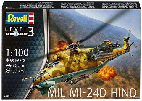 """Сборная модель """"Ударный вертолет Mil Mi-24D """"Hind"""" (масштаб: 1/100) — фото, картинка"""
