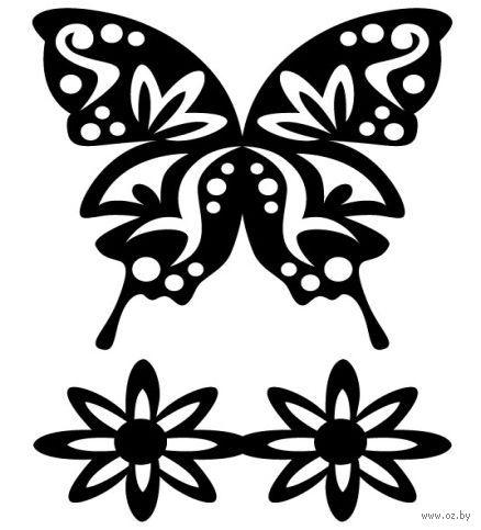 """Трафарет пластиковый """"Роскошная бабочка"""" (арт. PLD-30591)"""