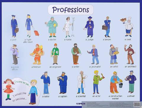 Профессии. Плакат