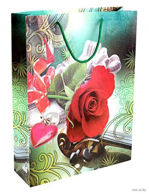 """Пакет пластмассовый подарочный """"Для тебя"""" (39х31х9 см; арт. 10647745)"""