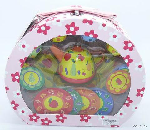 """Набор детской посуды """"Чайный сервиз в чемоданчике"""" (4 персоны)"""