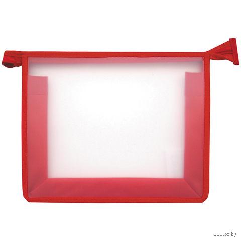 Папка для тетрадей на молнии (красная)