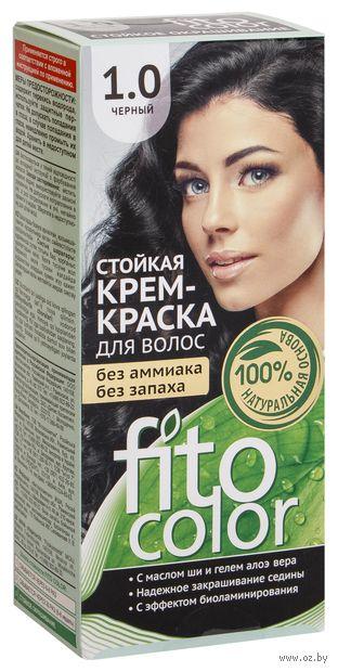 """Крем-краска для волос """"FitoСolor"""" (тон: 1.0, черный) — фото, картинка"""
