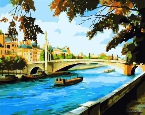 "Картина по номерам ""Вид на мост"" (400x500 мм) — фото, картинка"