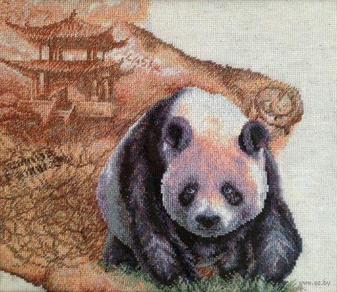 """Вышивка крестом """"Королевская панда"""" (360x320 мм) — фото, картинка"""