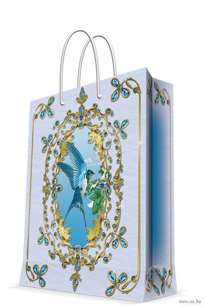"Пакет бумажный подарочный ""Ласточка"" (26х32,4х12,7 см; арт. 44221) — фото, картинка"
