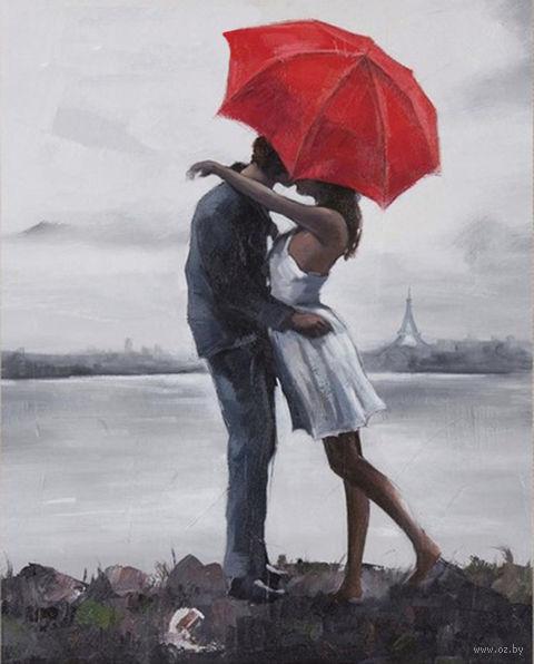 """Алмазная вышивка-мозаика """"Поцелуй под зонтом"""" (400х500 мм) — фото, картинка"""