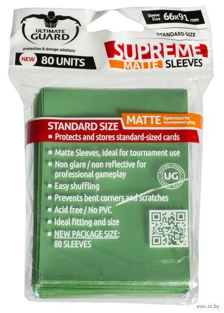 "Протекторы ""Supreme Matte"" (66х91 мм; 80 шт.; зеленые) — фото, картинка"