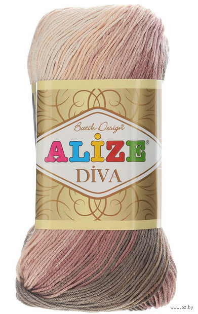"Пряжа ""ALIZE. Diva Batik Design №3303"" (100 г; 350 м) — фото, картинка"