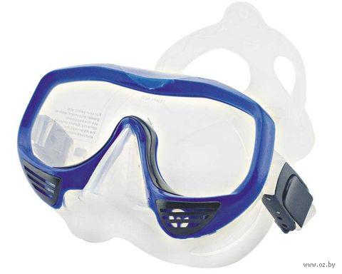 Маска для плавания 425 (силикон; синяя; с клапаном) — фото, картинка