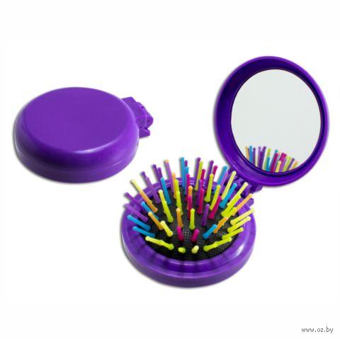 Щетка для волос с зеркалом (арт. 8007) — фото, картинка