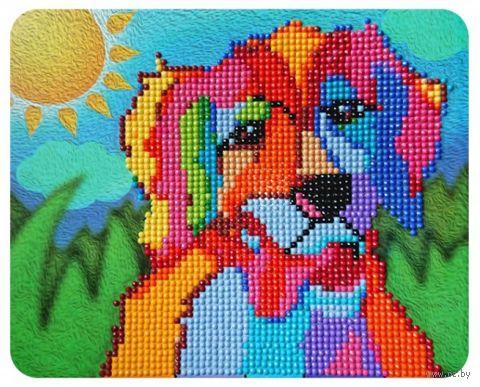 """Алмазная вышивка-мозаика """"Солнечный пёс"""" (170х210 мм) — фото, картинка"""