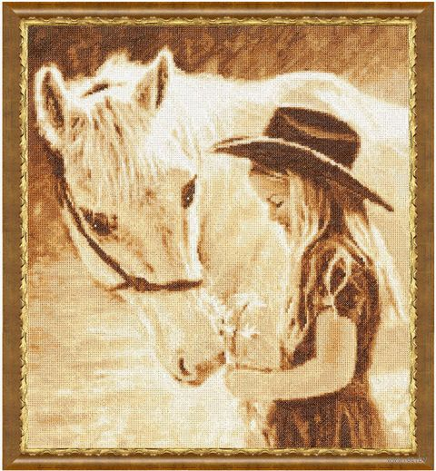 """Вышивка крестом """"Любимая лошадка"""""""