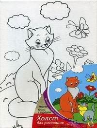 "Набор для рисования ""Кошка с котенком"" (240х180 мм) — фото, картинка"
