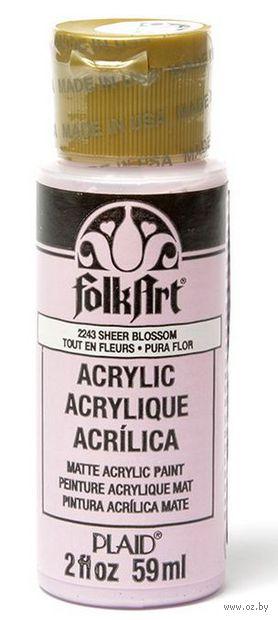 "Краска акриловая ""FolkArt. Acrylic Paint"" (полноцветная розовая; 59 мл; арт. PLD-02243) — фото, картинка"