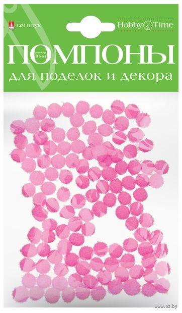 Помпоны пушистые №14 (120 шт.; 8 мм; нежно-розовые) — фото, картинка