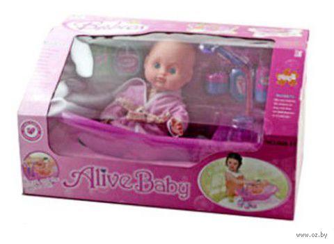 """Пупс в ванне """"Alive Baby"""""""