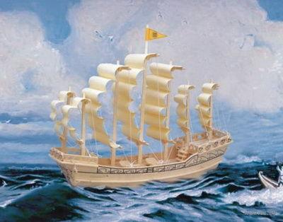 """Сборная деревянная модель """"Парусник династии Минг"""" — фото, картинка"""