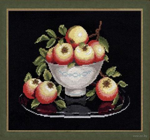 """Вышивка крестом """"Яблоки в вазе"""""""