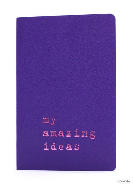 """Записная книжка Молескин """"Volant. My Amazing Ideas"""" в линейку (карманная; мягкая пурпурная обложка)"""