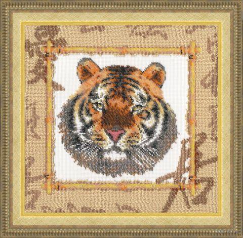 """Вышивка бисером """"Уссурийский тигр"""" (250х250 мм) — фото, картинка"""