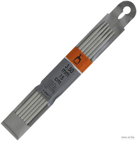 Спицы чулочные для вязания (алюминий; 3,5 мм; 15 см) — фото, картинка