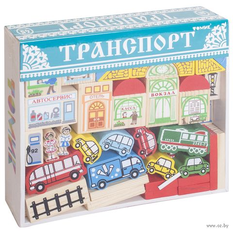 """Конструктор деревянный """"Транспорт"""" (48 деталей) — фото, картинка"""