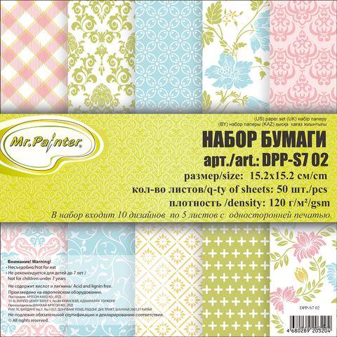 Набор бумаги для скрапбукинга (152х152 мм; арт. DPP-S7-02) — фото, картинка