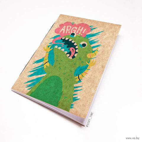 """Блокнот крафт """"Динозавр"""" А6 (098)"""