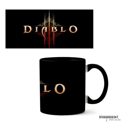 """Кружка """"Diablo"""" (арт. 347, черная)"""