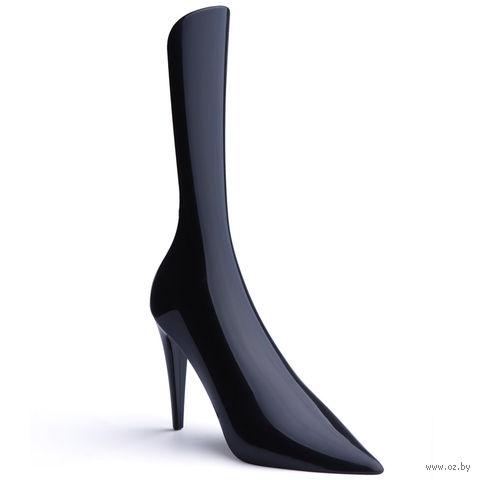 """Ложка для обуви пластмассовая """"Cindy"""" (черная)"""