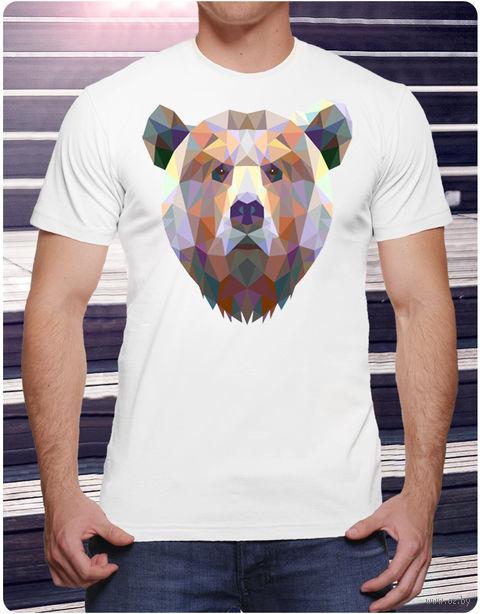 "Футболка мужская ""Медведь"" (размер 46; арт. 10) — фото, картинка"
