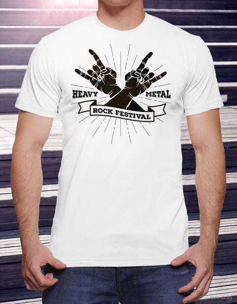 """Футболка мужская """"Heavy Metal"""" XXL (art.16)"""