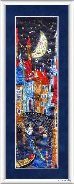 """Вышивка бисером """"Ночь в Венеции"""" (340х100 мм) — фото, картинка"""