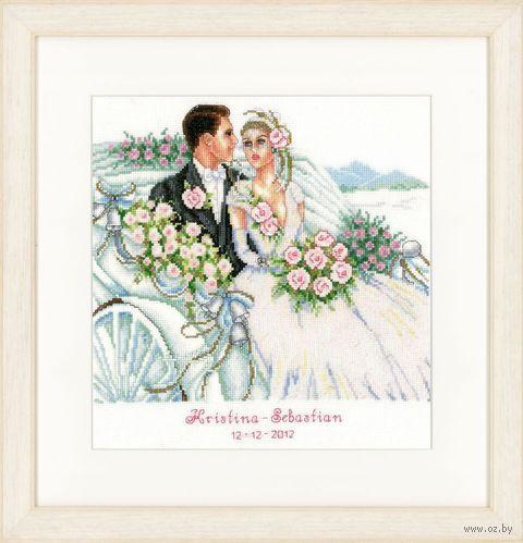 """Вышивка крестом """"Свадьба"""" (270х280 мм) — фото, картинка"""