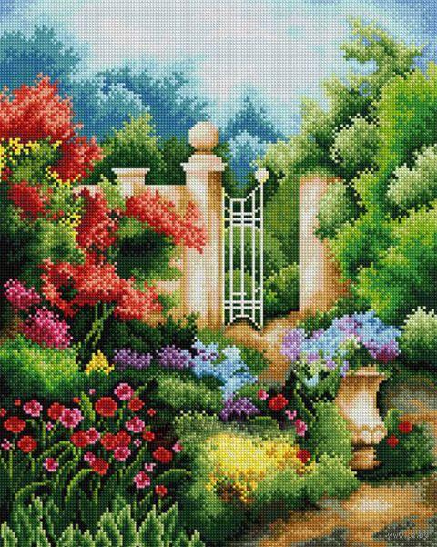 "Вышивка крестом ""Таинственный сад"" (290х360 мм) — фото, картинка"