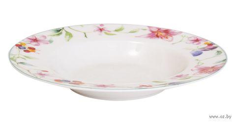 "Тарелка фарфоровая ""Floral Cascade"" (215 мм) — фото, картинка"