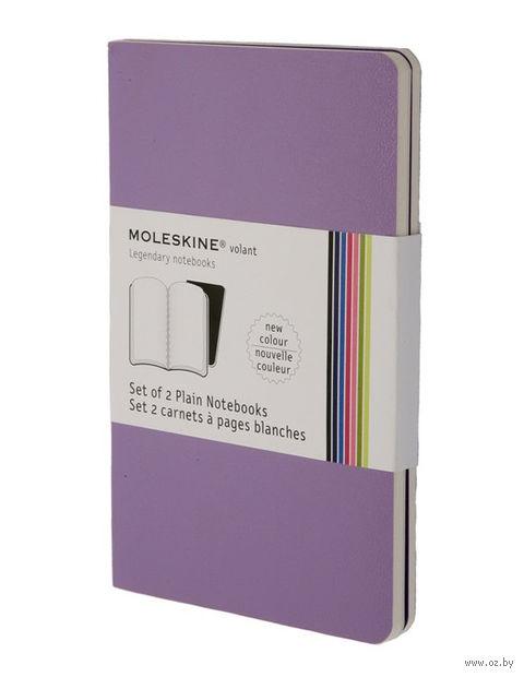 """Записная книжка Молескин """"Volant"""" нелинованная (большая; мягкая обложка, цвет: пурпурный; 2 штуки)"""