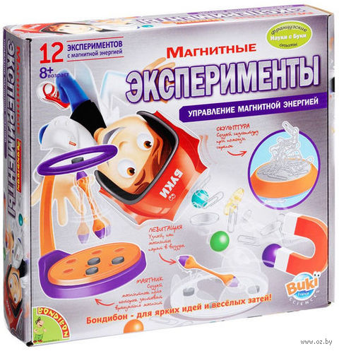 """Набор для опытов """"Науки с Буки. Магнитные эксперименты"""" — фото, картинка"""