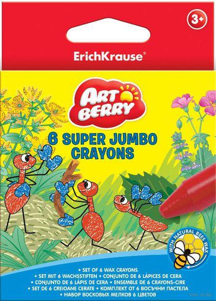 """Мелки восковые """"Super Jumbo Artberry"""" (6 цветов)"""