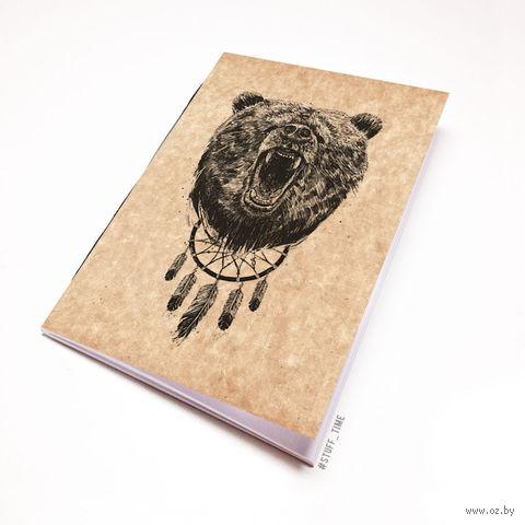 """Блокнот крафт """"Медведь"""" А5 (944)"""