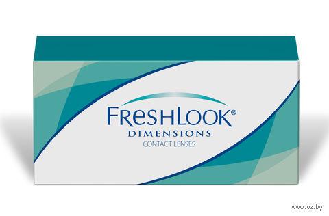 """Контактные линзы """"FreshLook Dimensions"""" (1 линза; 0 дптр; голубая лазурь) — фото, картинка"""