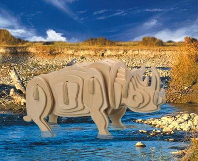 """Сборная деревянная модель """"Белый носорог"""" — фото, картинка"""